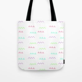 Abstract pink teal minimalist geometrical pattern Tote Bag