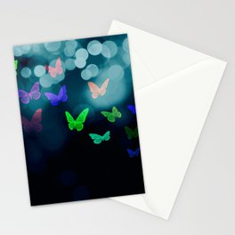 butterflies blue Stationery Cards
