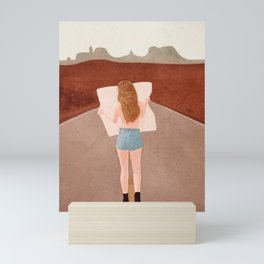 Through the Desert Highway I Mini Art Print