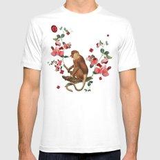 Monkey World: Nosy Mens Fitted Tee MEDIUM White