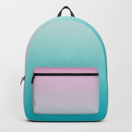 Pastel Ombre Pink Blue Teal Gradient Pattern Backpack