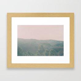 Pink Landscape Framed Art Print