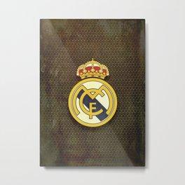 Real Madrid CF metal background Metal Print