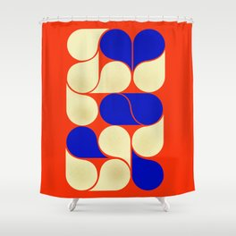 Mid-century geometric shapes-no10 Shower Curtain