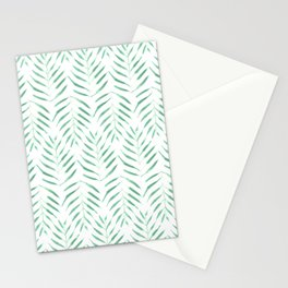 Palm trees in acqua and white Stationery Cards