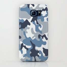 Blue and White Camo iPhone Case
