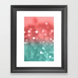 Summer Vibes Bokeh #1 #shiny #decor #art #society6 Framed Art Print