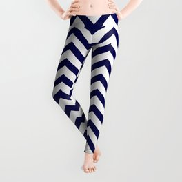 Simple Chevron Pattern - Blue & White - Mix & Match with Simplicity of life Leggings