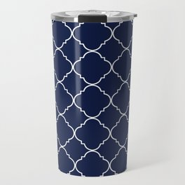 Navy Blue Moroccan Travel Mug