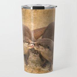 Kissing Otters Travel Mug