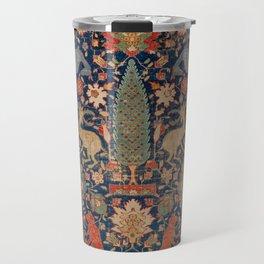 17th Century Persian Rug Print with Animals Travel Mug