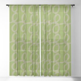 Zesty Pattern No 04 Sheer Curtain