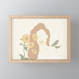 Sunflower Figure Abstract Framed Mini Art Print
