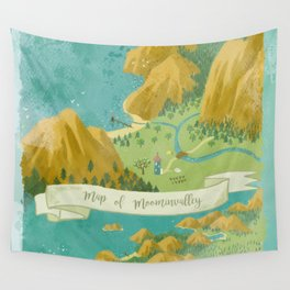 Moominvalley Map Interpretation (1/3) Wall Tapestry