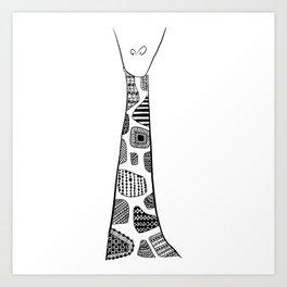 Standing Giraffe! Art Print