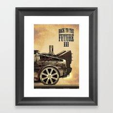 Back to the future III Framed Art Print