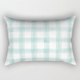 watercolor plaid -  spring teal Rectangular Pillow