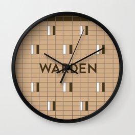 WARDEN | Subway Station Wall Clock