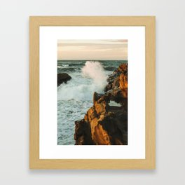 waves come crashing Framed Art Print