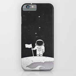 If you believed they put a man on the moo iPhone Case