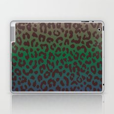 LEOPARD hue-TAUPE GREEN BLUE Laptop & iPad Skin