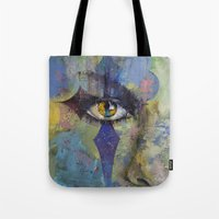 gothic Tote Bags featuring Gothic Art by Michael Creese