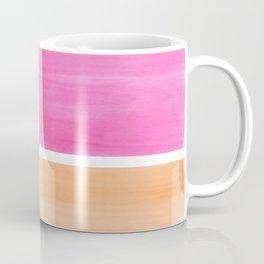 Colorful Bright Minimalist Rothko Pastel Pink Peach Midcentury Modern Art Vintage Pop Art Coffee Mug