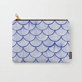 Scalloped Waves Carry-All Pouch