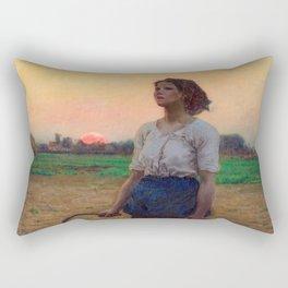 Jules Breton - Song of the Lark Rectangular Pillow