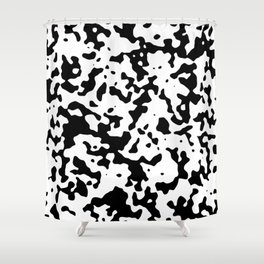 Spots - White and Black Shower Curtain