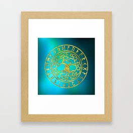 Tree of life  -Yggdrasil and  Runes alphabet Framed Art Print