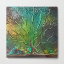 Metal Color tree Metal Print