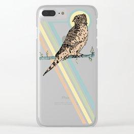 Mauritius Kestrel Falcon Clear iPhone Case