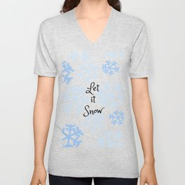 Let it Snow Snowflakes Unisex V-Neck