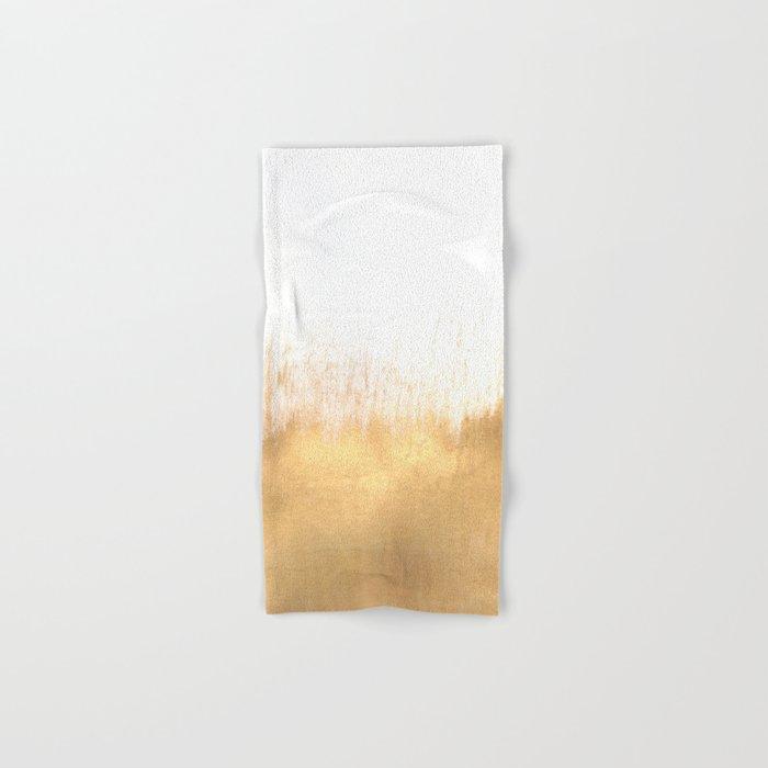 Brushed Gold Hand & Bath Towel