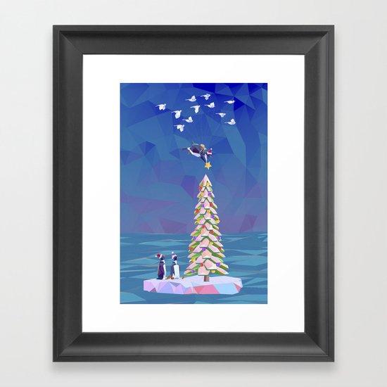 Christmas Flight Framed Art Print