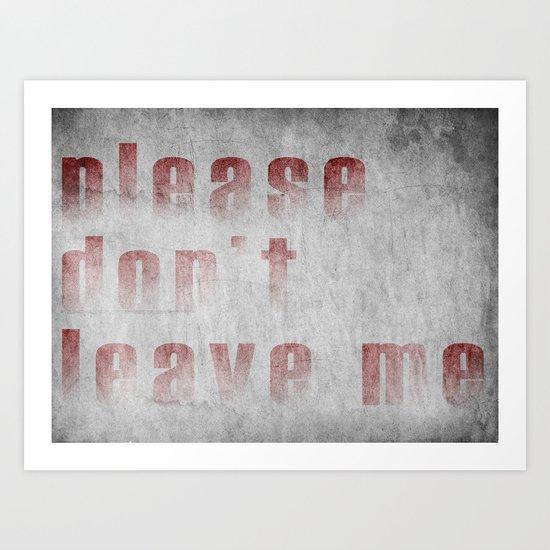 PLEASE II Art Print