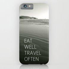 eat well. travel often iPhone 6 Slim Case