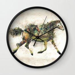 Wild Horse Surrealism Wall Clock