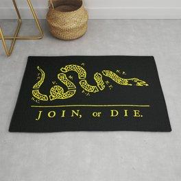 1754 Join or Die Snake Rug