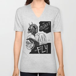 The Mutant from the Fly Unisex V-Neck