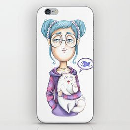 The always hungry cat iPhone Skin
