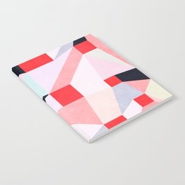 Red Squares Notebook