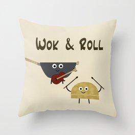 Wok & Roll Throw Pillow