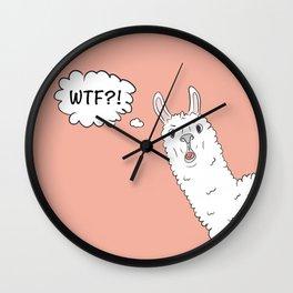 Llama WTF Wall Clock