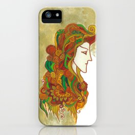 Golden Portrait iPhone Case