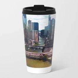 Chicago River View II Metal Travel Mug