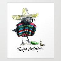 to kill a mockingbird Art Prints featuring Tequilla Mockingbird by Grindilkin