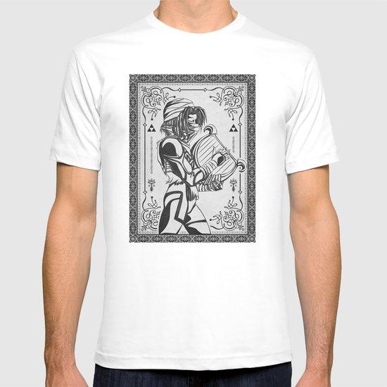 Legend of Zelda Shiek Princess Zelda Geek Line Art T-shirt