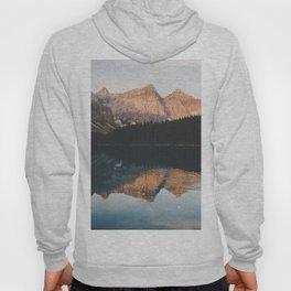 peaceful Moraine lake Hoody